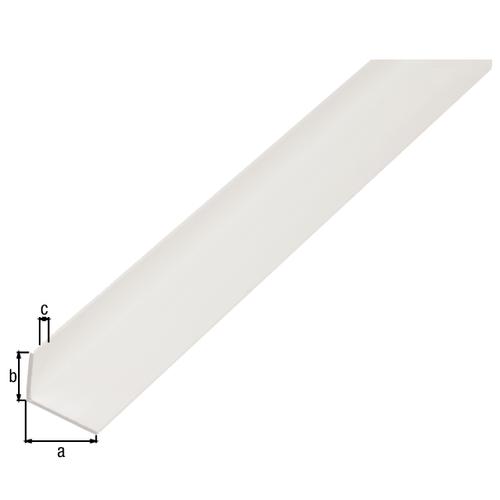 GAH Alberts L-hoekprofiel kunststof wit 2,6 m x 2 cm