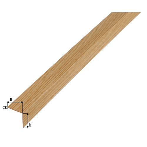 Profilé L GAH Alberts PVC chêne 1 m x 2 cm