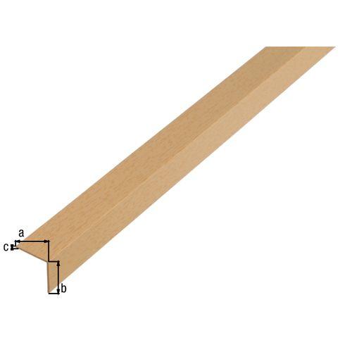Profilé L GAH Alberts PVC hêtre 2 m x 2 cm