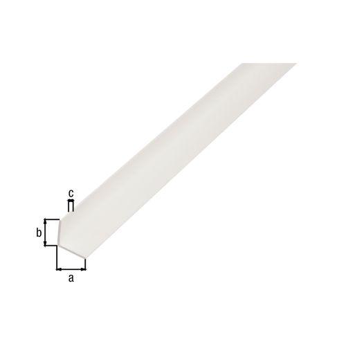 Profilé L GAH Alberts PVC blanc 2,6 m x 5 cm