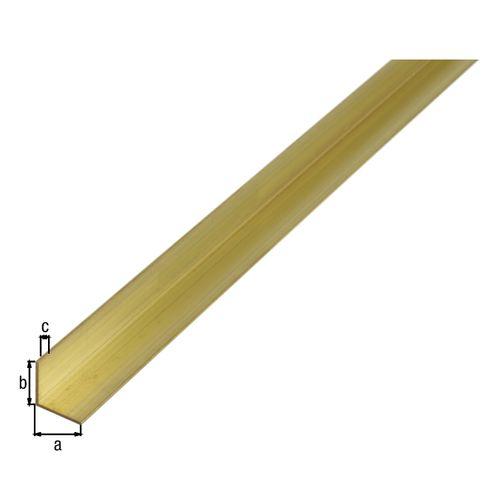 Profilé L GAH Alberts laiton doré 1 m x 0,6 cm
