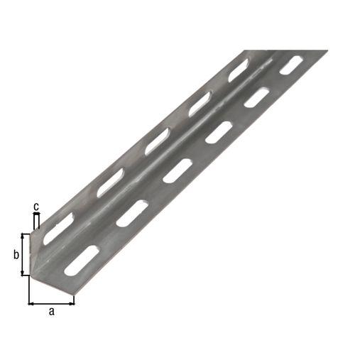 GAH Alberts L-profiel staal grijs 2 m x 2,7 cm