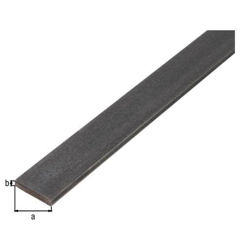 Profilé plat GAH Alberts acier anthracite 1 m x 3 cm