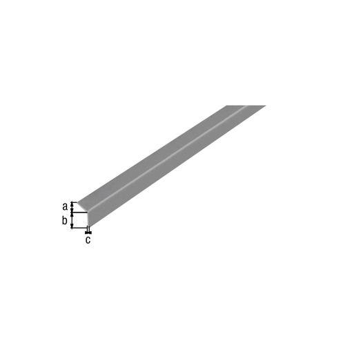 Profilé L autoadhésif GAH Alberts PVC gris 2 m x 2 cm
