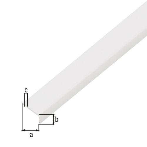 Profilé d'arrêt autoadhésif GAH Alberts PVC blanc 1 m x 1,9 cm