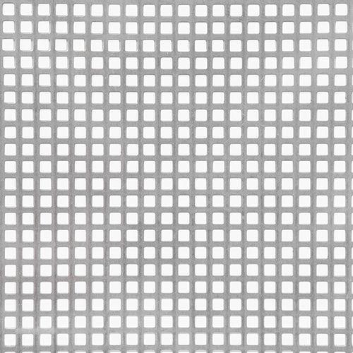 Tôle GAH Alberts acier perforé gris 100 x 50 cm x 1 mm