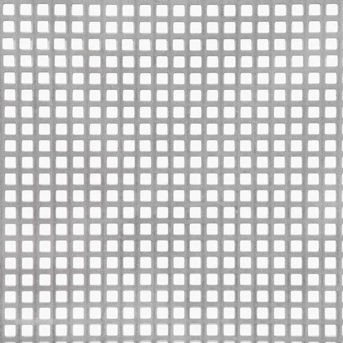 Tôle GAH Alberts acier perforé gris 50 x 25 cm x 1 mm