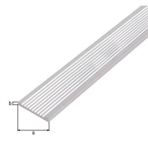 Profilé plat GAH Alberts aluminium gris 1 m x 4 cm