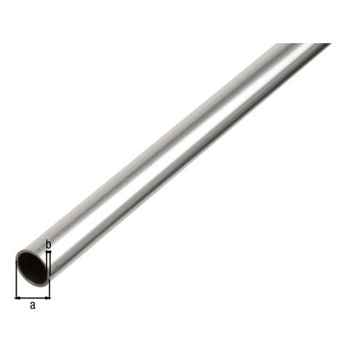 Tube rond GAH Alberts aluminium gris 2 m x 2,5 cm