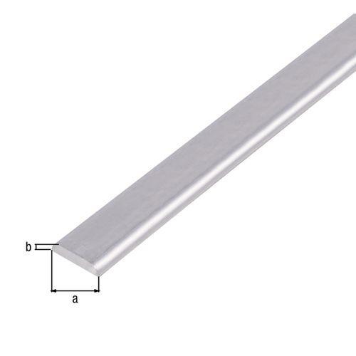 Profilé plat GAH Alberts aluminium gris 1 m x 1,9 cm