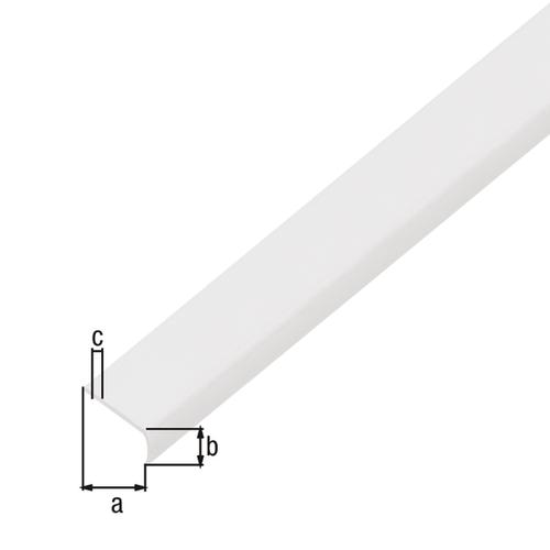 GAH Alberts plat profiel aluminium grijs 1 m x 2,6 cm