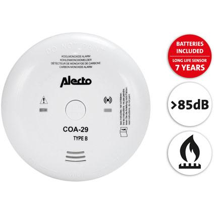 Détecteur de CO Alecto 'COA-29/7' 9 V