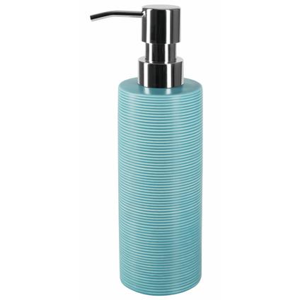 Spirella zeepdispenser Tube ribbed aqua blauw