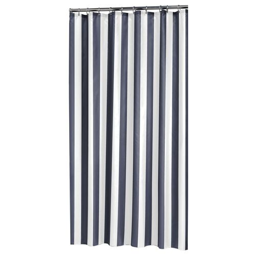 Sealskin douchegordijn Linje polyester blauw 180x200cm