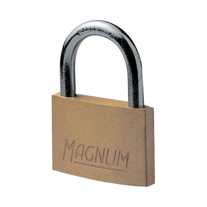 Master Lock hangslot met sleutel Magnum messing bruin 20 mm