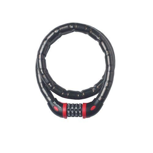 Master Lock hangslot met combinatie '8226EURDPRO' staal zwart 1 m x 18 mm