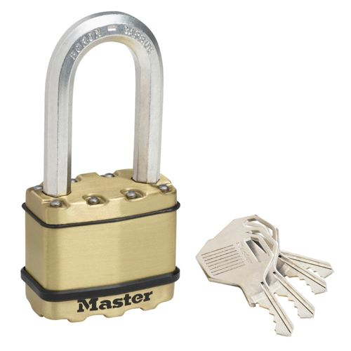 Master Lock hangslot met sleutel 'Excell' staal geel goud 52 mm