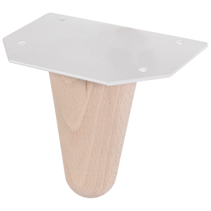 Pied de meuble Duraline hêtre danois 10cm