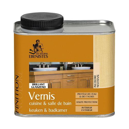 Vernis bois Les Anciens Ebénistes 'Cuisine et Salle de bains incolore 450ml