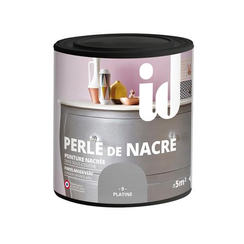 Peinture pour meuble ID Perle de nacre platine 500ml