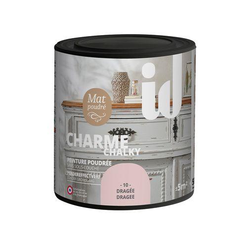 Peinture Les Décoratives 'Charme' dragée mat 500ml