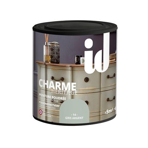 Peinture Les Décoratives 'Charme' gris argent mat 500ml