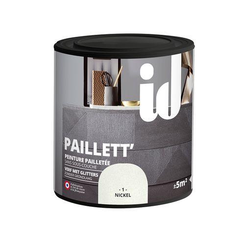 Glitterverf Paillett' 500ml nikkel