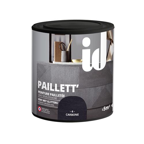Peinture pailletée pour meuble ID 'Paillett' carbone 500ml