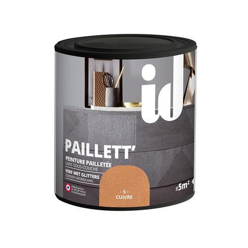 Glitterverf Paillett' 500ml koper