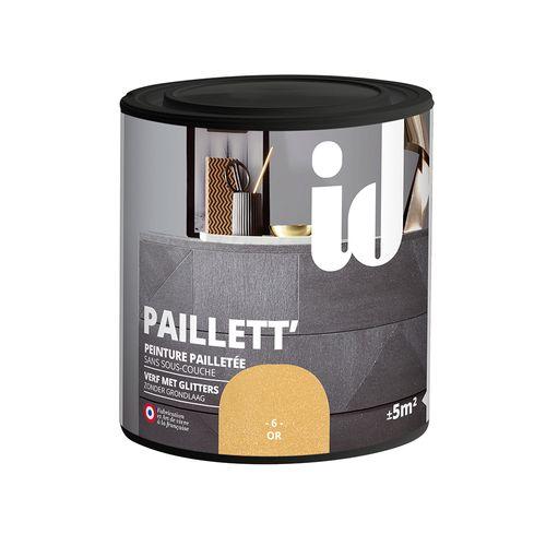 Peinture pailletée pour meuble ID 'Paillett' or 500ml