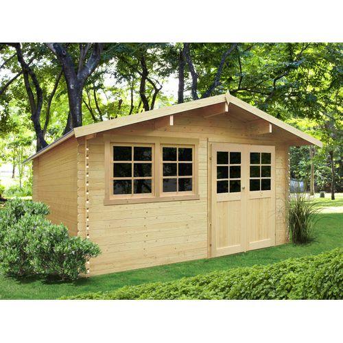 Solid tuinhuis Niort hout 12,46m² 418x298cm