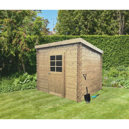 Solid tuinhuis Passau hout 3,92m² 198x198cm
