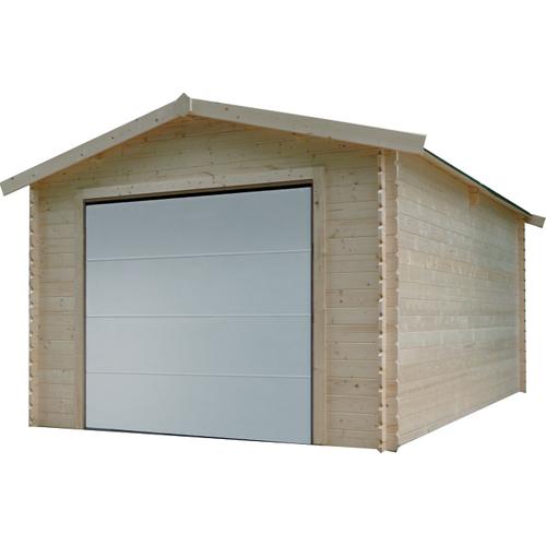 Solid garage gemotoriseerd 'S8330' hout 16,20 m²
