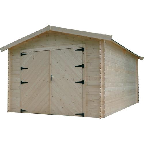 Solid garage 'S8331' hout 16,20 m²