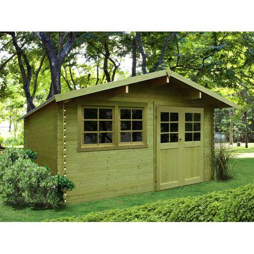 Solid tuinhuis Niort geïmpregneerd hout 12,46m² 418x298cm
