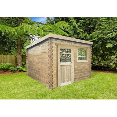 Abri de jardin Solid Nevers bois imprégné 5,66m² 238x238cm