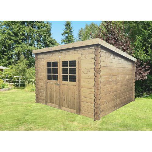Solid tuinhuis Riom geïmpregneerd hout 7,09m² 298x238cm