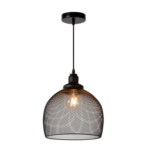 Lucide hanglamp Mesh zwart Ø28cm E27