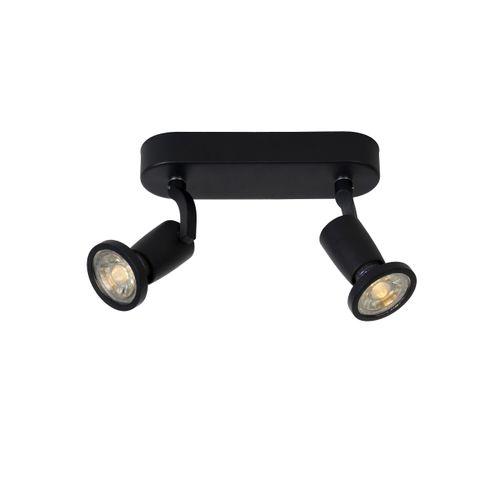 Spot LED Lucide Jaster-Led noir 2x5W