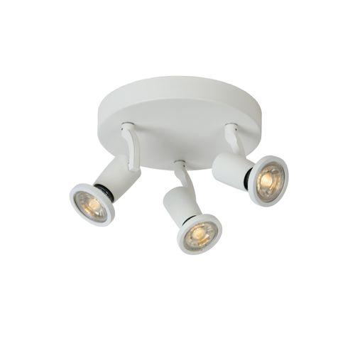 Spot LED Lucide Jaster-Led blanc 3x5W