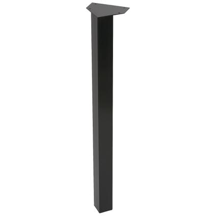 Pied de meuble Duraline carré noir 5x72cm