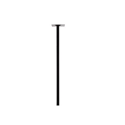 Pied de meuble Duraline carré noir 2.5x75cm