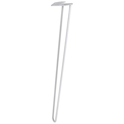 Pied de meuble Duraline fil blanc 72cm