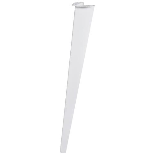 Duraline meubelpoot gevouwen wit 72cm