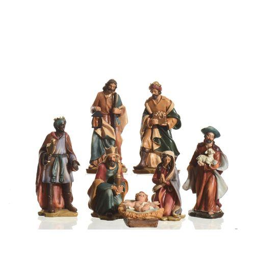 Figurines de Noël Groupe de Noël 7 pcs 15cm