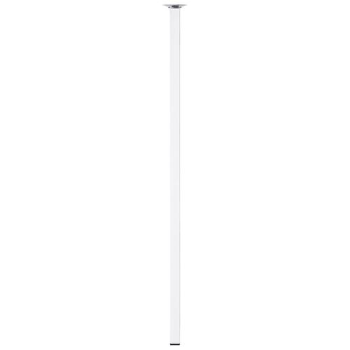 Duraline meubelpoot vierkant chroom 2,5x75cm