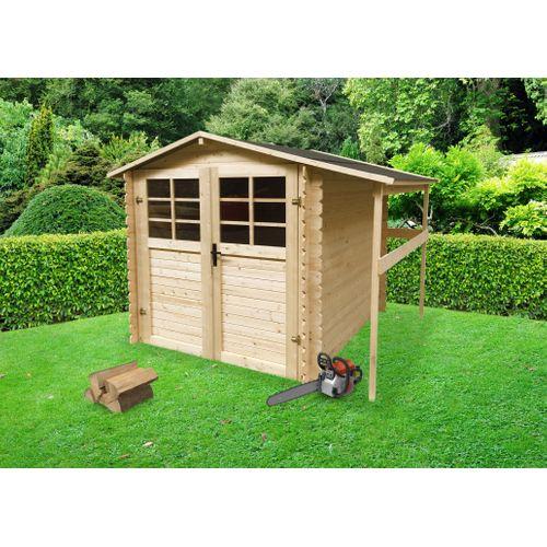 Abri de jardin Solid Initia Wielen bois 3,92m² 198x198 + 50cm