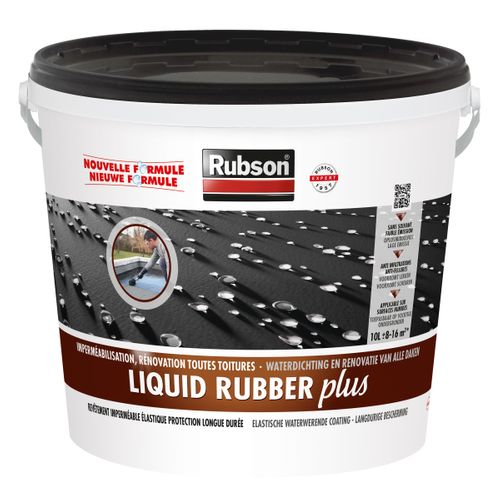 Rubson Liquid Rubber Plus zwart 10L