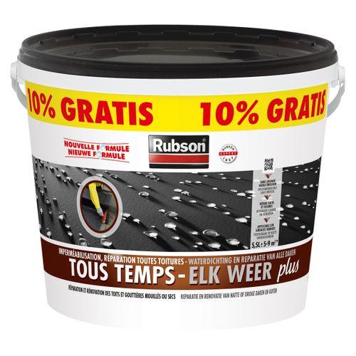 Rubson coating Elk Weer Plus zwart 5L + 500ml gratis