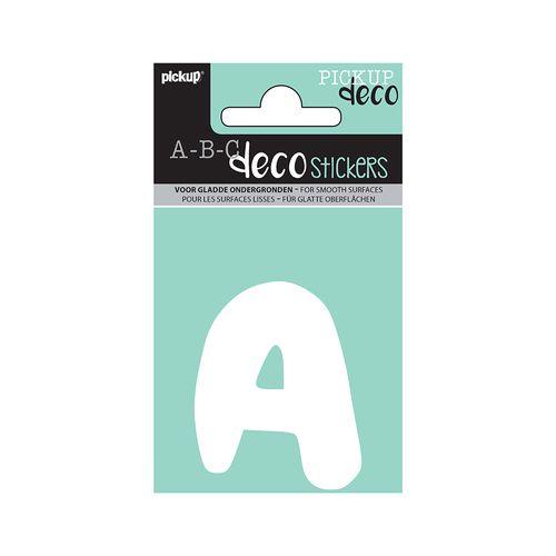 Pickup ABC Deco kleefletter A Emma 70mm wit